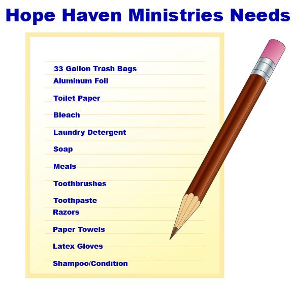 Hope Haven Needs